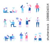 people background characters.... | Shutterstock .eps vector #1088826014