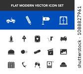 modern  simple vector icon set... | Shutterstock .eps vector #1088827961