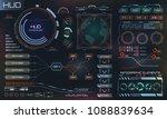 futuristic interface hud design ... | Shutterstock .eps vector #1088839634