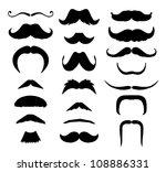 set of mustache  mustache... | Shutterstock .eps vector #108886331