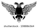 two headed eagle coat of arms... | Shutterstock .eps vector #108886364