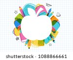 back to school and educational... | Shutterstock .eps vector #1088866661