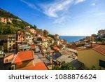 summer in cinque terre in italy | Shutterstock . vector #1088876624