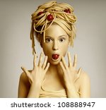 Portrait Of Woman Model With...