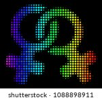 pixel like colorful halftone...   Shutterstock .eps vector #1088898911