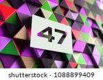 number 47 on the purple and... | Shutterstock . vector #1088899409