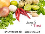 fresh herbs and spices  chili ... | Shutterstock . vector #108890135