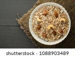muesli with nuts. muesli on a... | Shutterstock . vector #1088903489
