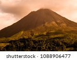 Arenal Volcano At Dusk  Costa...
