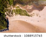 aerial   three cliffs bay ... | Shutterstock . vector #1088915765