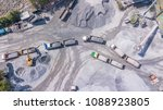 Small photo of Aerial view Quarry Industrial crusher rock stone crushing machine