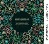 linear style design template... | Shutterstock .eps vector #1088927441
