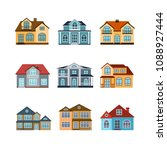 house flat style icons set.... | Shutterstock .eps vector #1088927444
