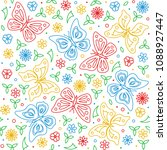 seamless pattern with... | Shutterstock .eps vector #1088927447