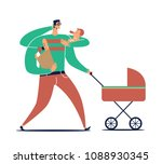 male cartoon character with... | Shutterstock .eps vector #1088930345