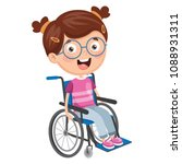 vector illustration of disabled ... | Shutterstock .eps vector #1088931311