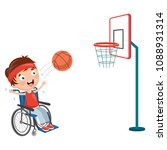 vector illustration of disabled ... | Shutterstock .eps vector #1088931314