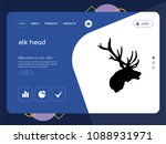 quality one page elk head...