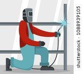 welder icon. flat illustration... | Shutterstock . vector #1088939105