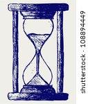 hourglass sketch | Shutterstock .eps vector #108894449