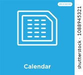 calendar vector icon isolated... | Shutterstock .eps vector #1088945321