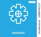 solution vector icon isolated...
