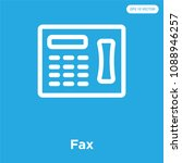 fax vector icon isolated on... | Shutterstock .eps vector #1088946257
