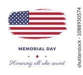 memorial day banner template... | Shutterstock .eps vector #1088950574