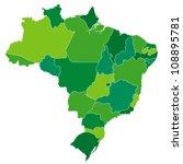 brazil | Shutterstock .eps vector #108895781