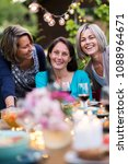 summertime. group of friends... | Shutterstock . vector #1088964671