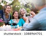 one summer evening friends... | Shutterstock . vector #1088964701