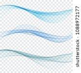 set of vector abstract waves... | Shutterstock .eps vector #1088972177