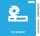 cd player vector icon isolated... | Shutterstock .eps vector #1088986301