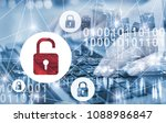 hacker attack and data breach ... | Shutterstock . vector #1088986847