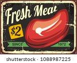 fresh meat vintage sign design... | Shutterstock .eps vector #1088987225