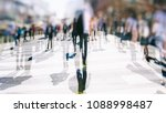 crowd of anonymous people... | Shutterstock . vector #1088998487