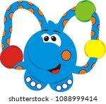 children's toy   rattle  the... | Shutterstock .eps vector #1088999414
