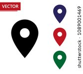 map pointer icons set. isolated ...