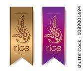 rice premium organic natural... | Shutterstock .eps vector #1089001694