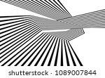black and white stripe line... | Shutterstock . vector #1089007844