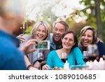 some friends in their 40s... | Shutterstock . vector #1089010685