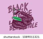 black snake harmonica blues... | Shutterstock .eps vector #1089011321