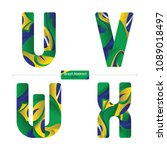 vector graphic alphabet in a... | Shutterstock .eps vector #1089018497