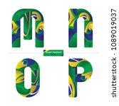 vector graphic alphabet in a... | Shutterstock .eps vector #1089019037