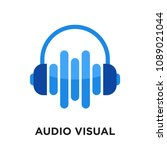 audio visual logo isolated on... | Shutterstock .eps vector #1089021044