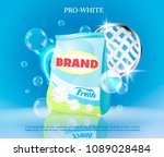 vector realistic banner with... | Shutterstock .eps vector #1089028484
