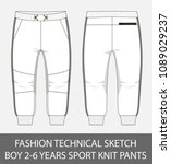 fashion technical sketch boy 2... | Shutterstock .eps vector #1089029237