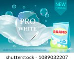 vector realistic banner with... | Shutterstock .eps vector #1089032207