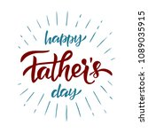 handlettering happy father's... | Shutterstock .eps vector #1089035915