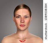 3d comparative portrait of... | Shutterstock . vector #1089038384